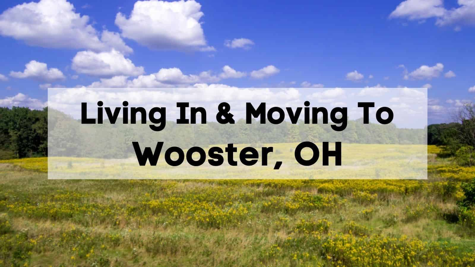 living in & moving to wooster, oh