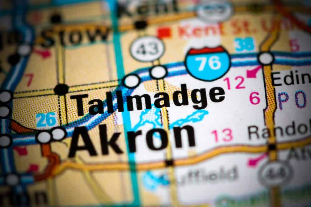 Tallmadge, OH on a map